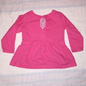 Carter's Girls long sleeve shirt. Size 18 months